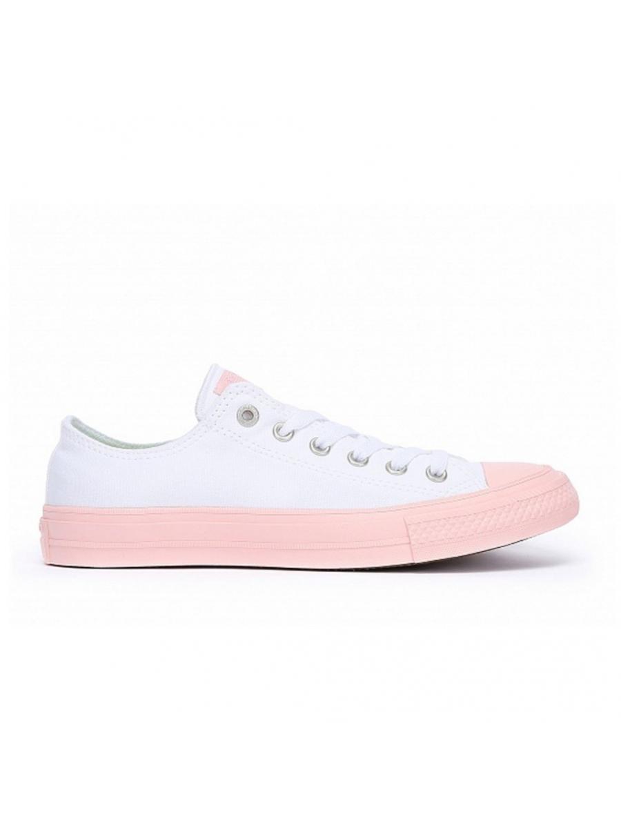 Кеды Chuck Taylor All Star бело-розовые низкие