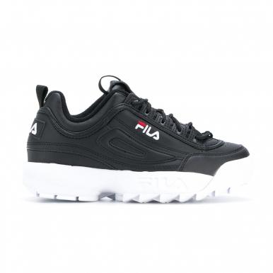 Женские кроссовки Fila Disruptor II черно-белые