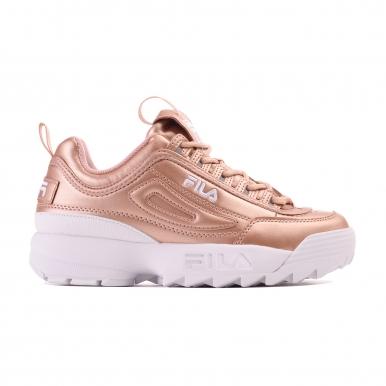 Женские кроссовки Fila Disruptor II розовое золото