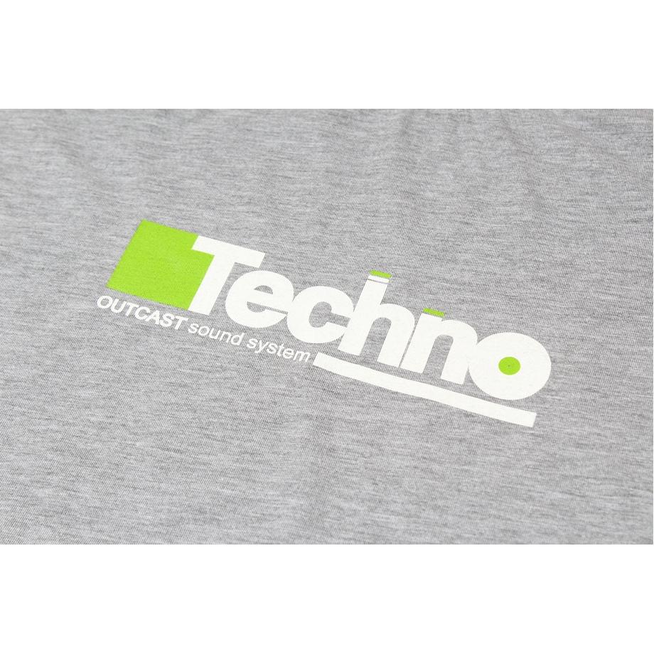 Лонгслив Outcast Techno серый меланж