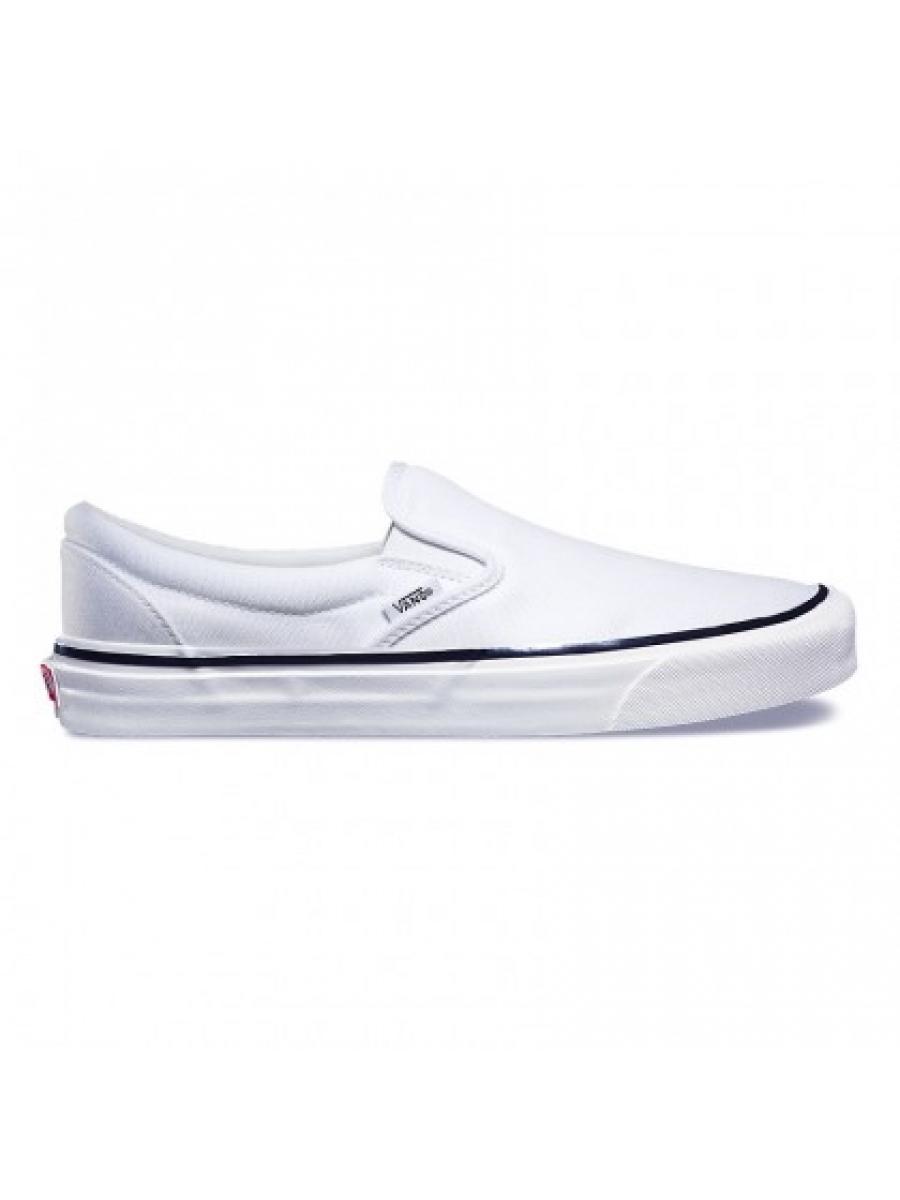 Слипоны Vans белые